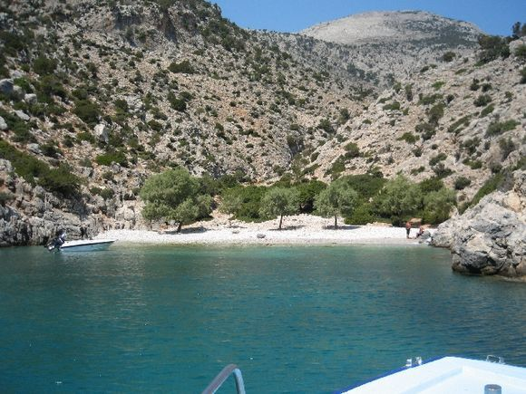 little bay near Vathi