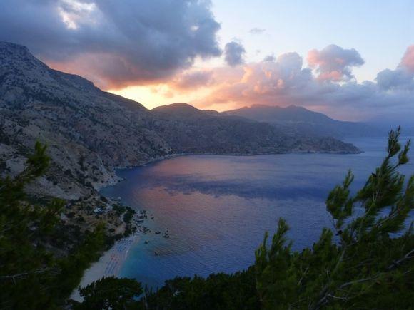 Apella in a stunning sunset-Karpathos