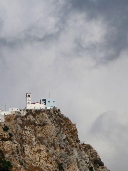 Church on the rock in Menetes-Karpathos