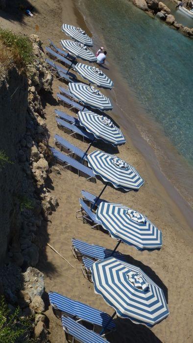 Umbrellas in Pefki