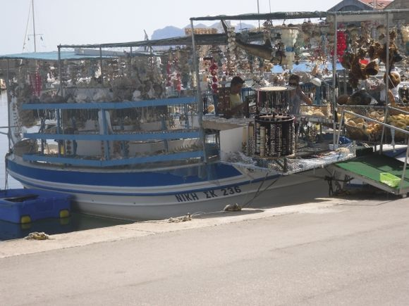 New use for a fishing boat Chania