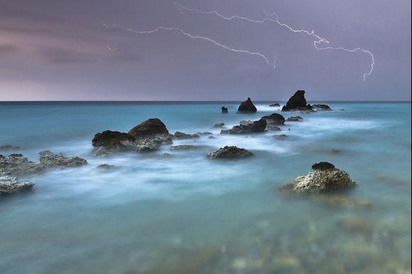 stormy evening near Makrigialos www.milangondaphotography.com