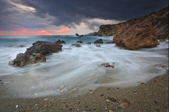 Diaskari beach sunset. www.milangondaphotography.com