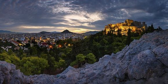 acropolis in the morning