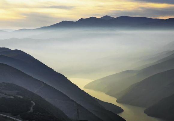 Mist over Aliakmon river