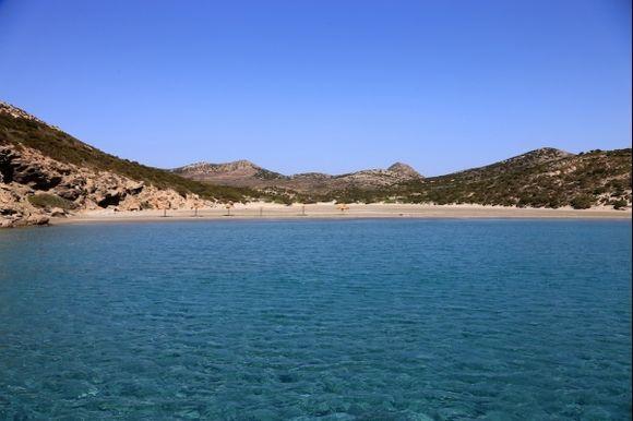 A Beach of Despotiko Island