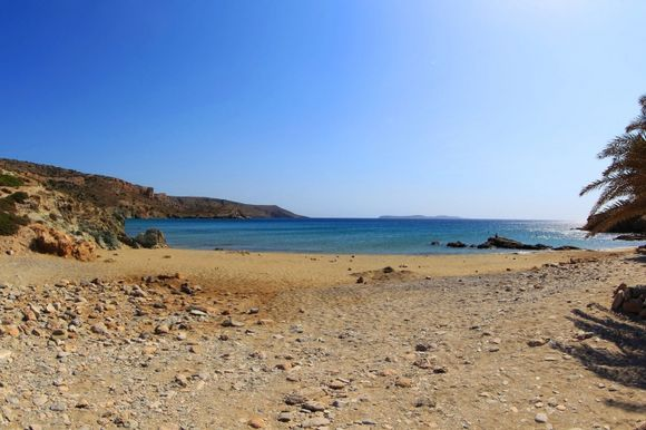 Itanos beach in a windy day