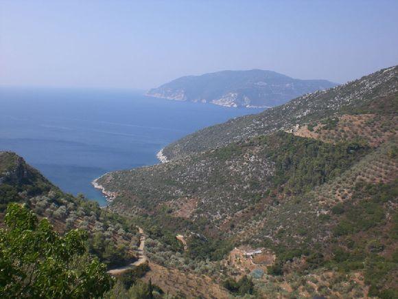 Skopelos view from chora