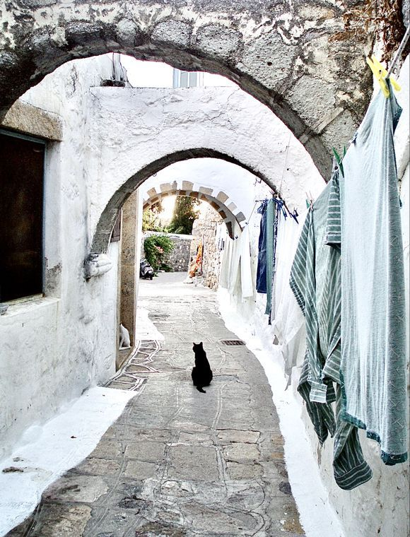 Patmos on a gray day