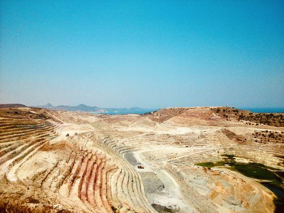 Bentonite mine Aggeria. Milos
