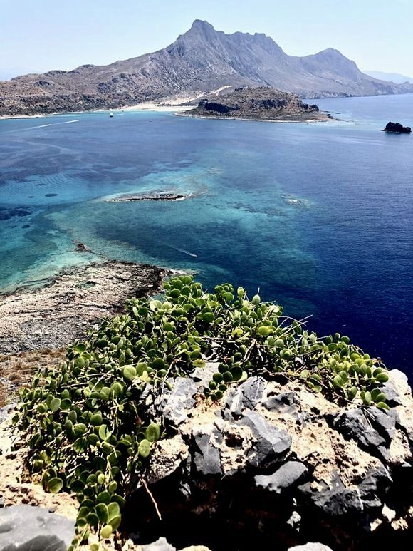 view of Balos from Gramvousa. Kriti