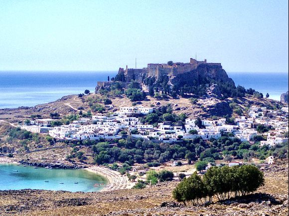 The beautiful village of Lindos