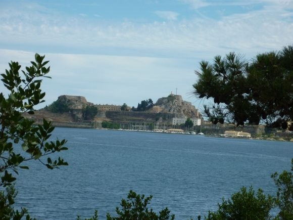 the old Fort Corfu town