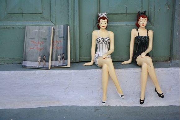Kimolos, the dolls in Chora