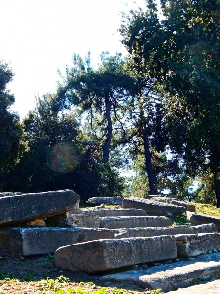 At the ancient theater