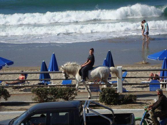 Beach life in Rethymno.