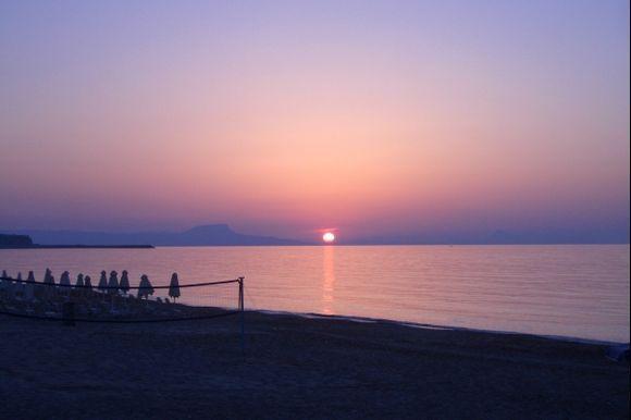 Sunset in Rethymno.