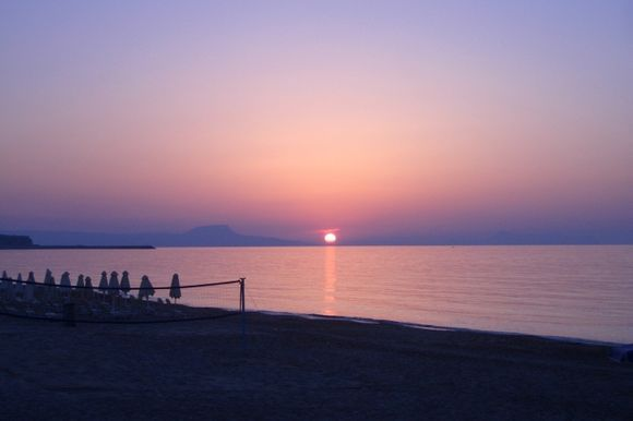 Evening at the beach in Rethymno