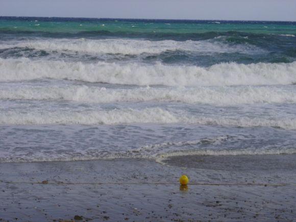 Storm at the Rethymno beach