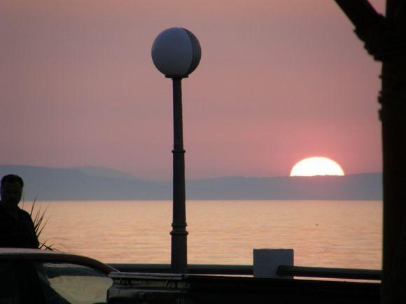 Sun set in Rethymno
