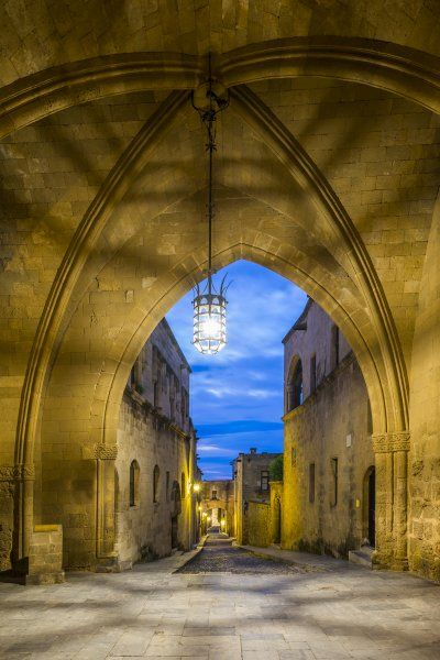 streets of the Knights in the old town of  Rhodes