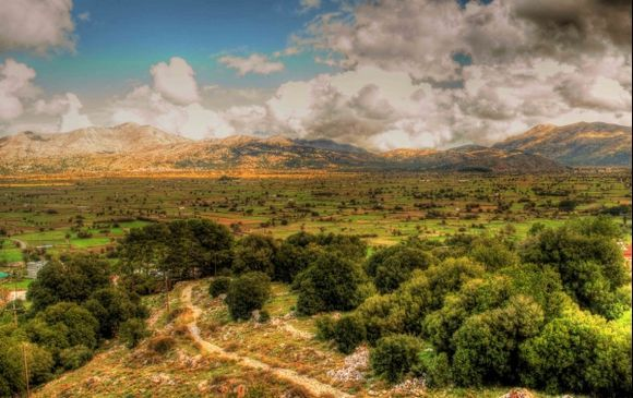 Lassithi Plain Lone Path