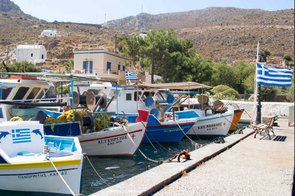 Vathy Harbour Boats