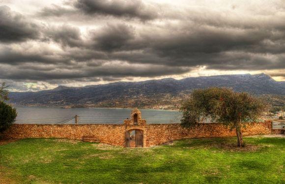 Storm clouds at Sitia