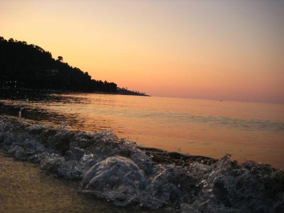 sunset Golden Beach