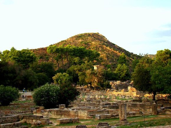 Overlooking the ancient Olympia