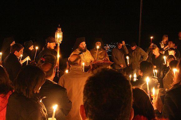 Easter mass @Profitis Elias monastery