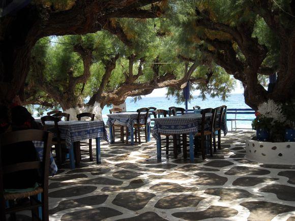 Cretan home cooking right on the sea shore