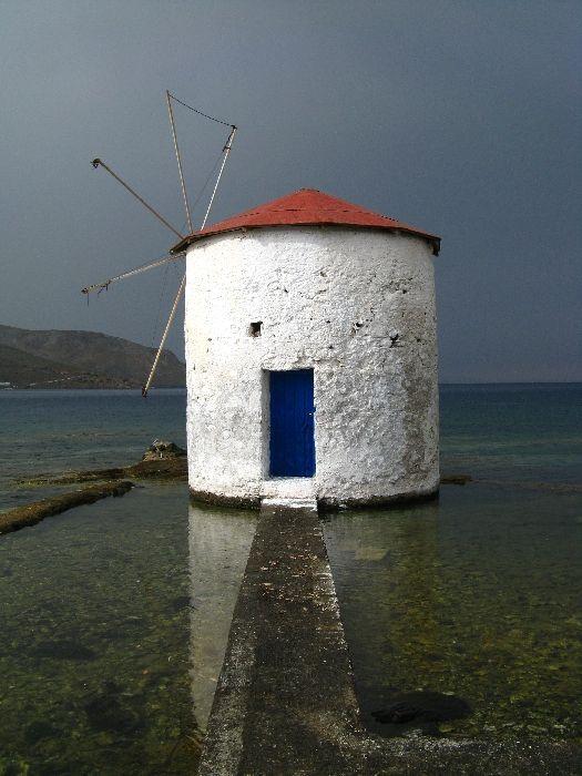 Leros, Wind Mill, Aghia Marina