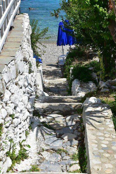 Stone washed stairs