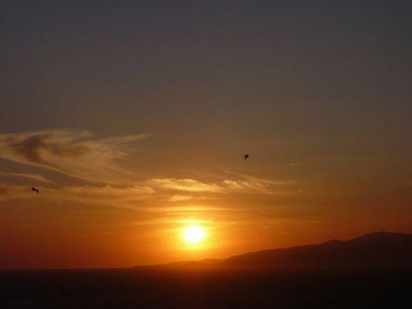 Sunset at agios stefanos
