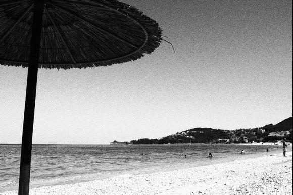 una spiaggia di altri tempi...