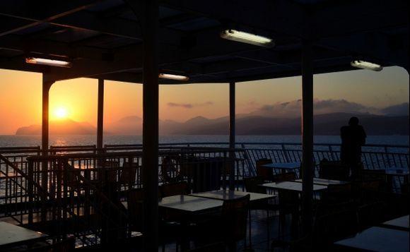 Bye bye Amorgos..see you next time...  (on Blue Star to Piraeus)