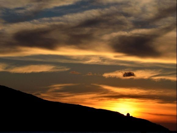 October sunset in Katapola