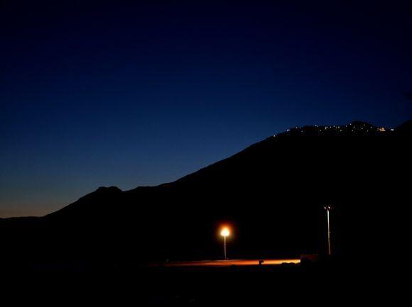 Night on Anafi\'s port