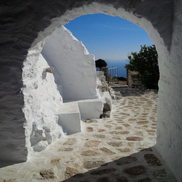 Leaving Teologos Monastery
