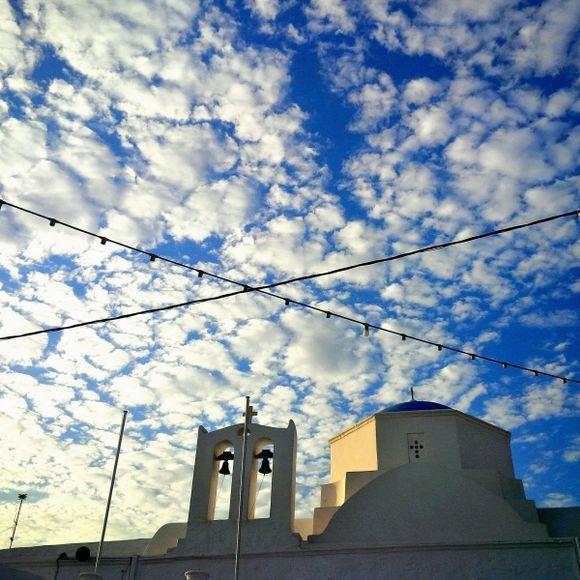 Greek sky celebrating