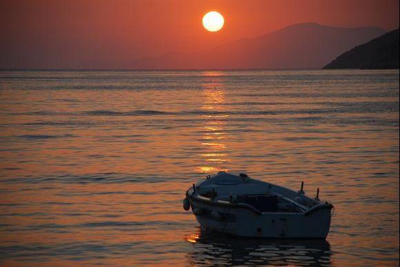 Sunset at Katapola