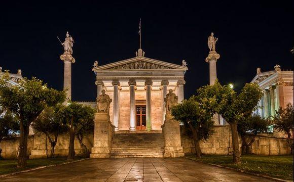 Night Walk on Panepistimiou St. - Academy of Athens