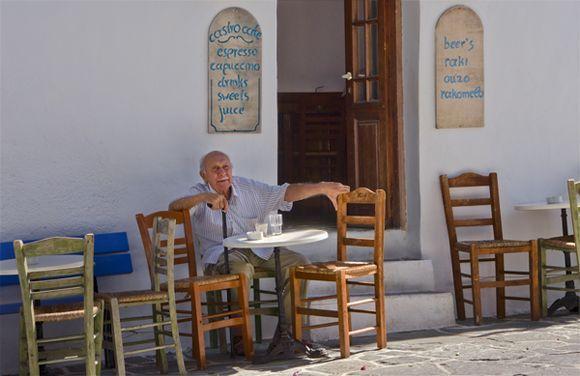 Old Man at Kastro Cafe