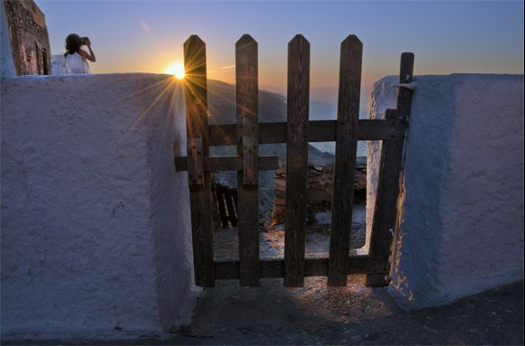 Small gate to the sunset