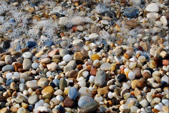 coloured pebbles