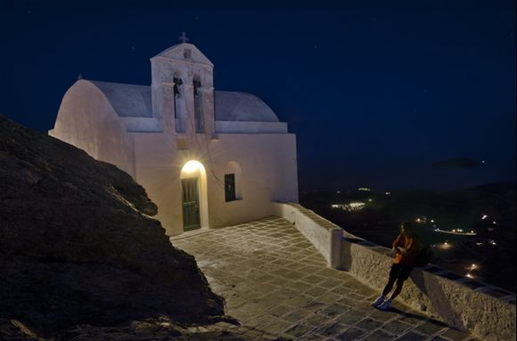 Church in the Night - Serifos, Chora