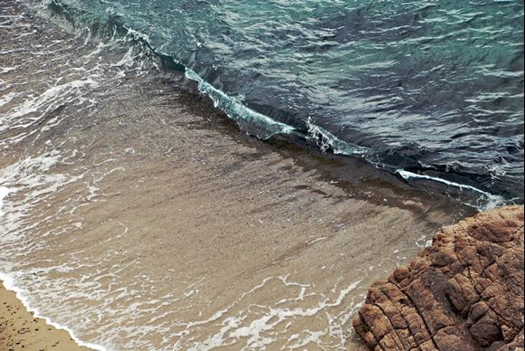 waves and sea view