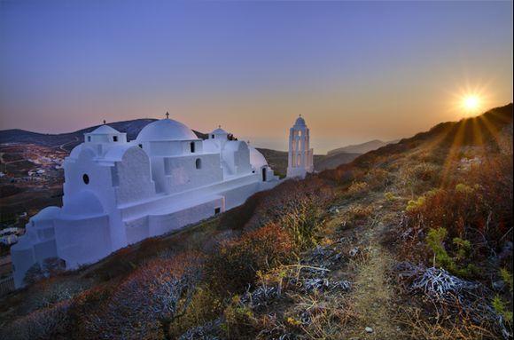 Church of Panagia at sunset