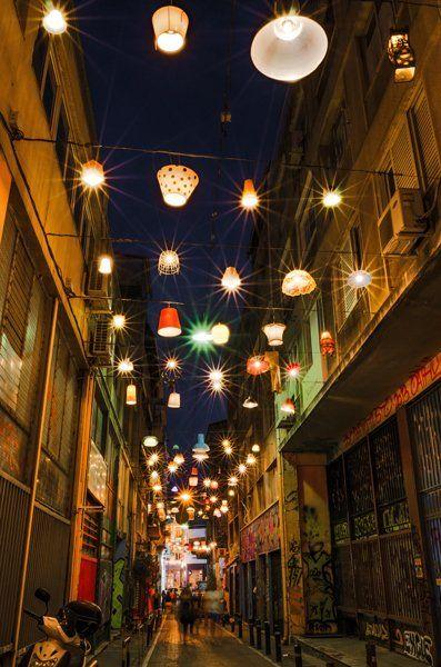 Pitaki Street over the night - discovered through Greeka blog